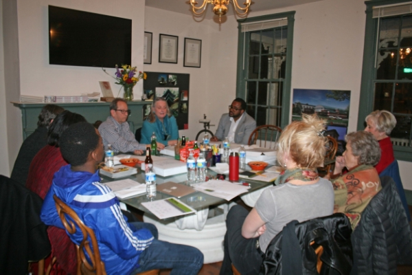 Ward Bucher of Encore Sustainable Design hosting the Ruth Starr Rose Project Planning Committee