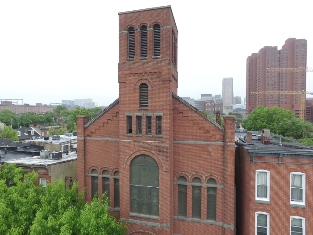 Drone shots at Ebenezer African Methodist Episcopal Church, Baltimore, MD