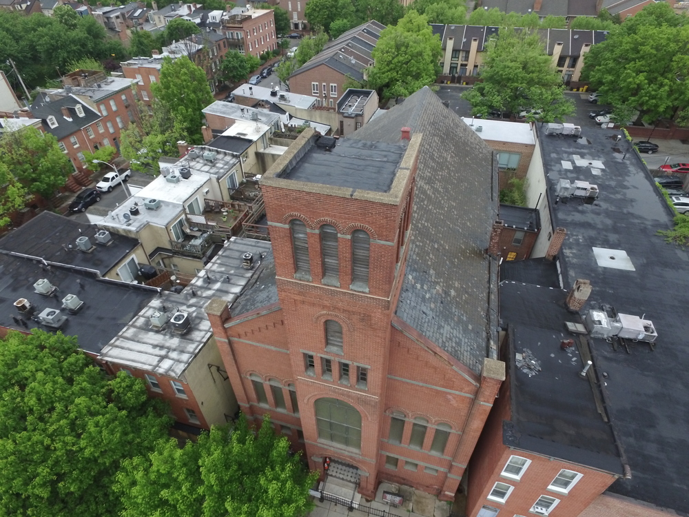 Drone shots at Ebenezer African Methodist Episcopal Church, Baltimore, MD Image 2