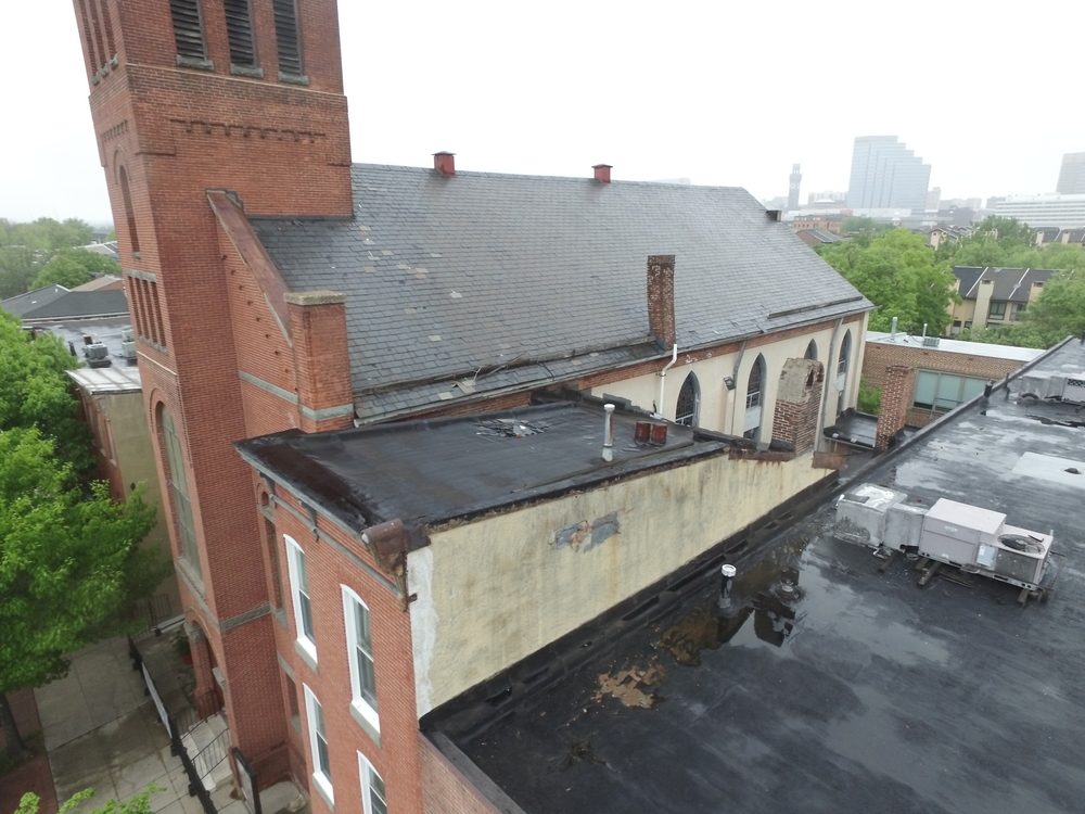 Drone shots at Ebenezer African Methodist Episcopal Church, Baltimore, MD Image 3