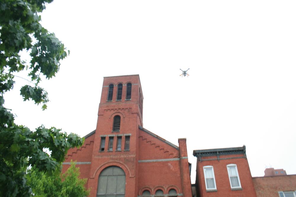 Drone shots at Ebenezer African Methodist Episcopal Church, Baltimore, MD Image 5