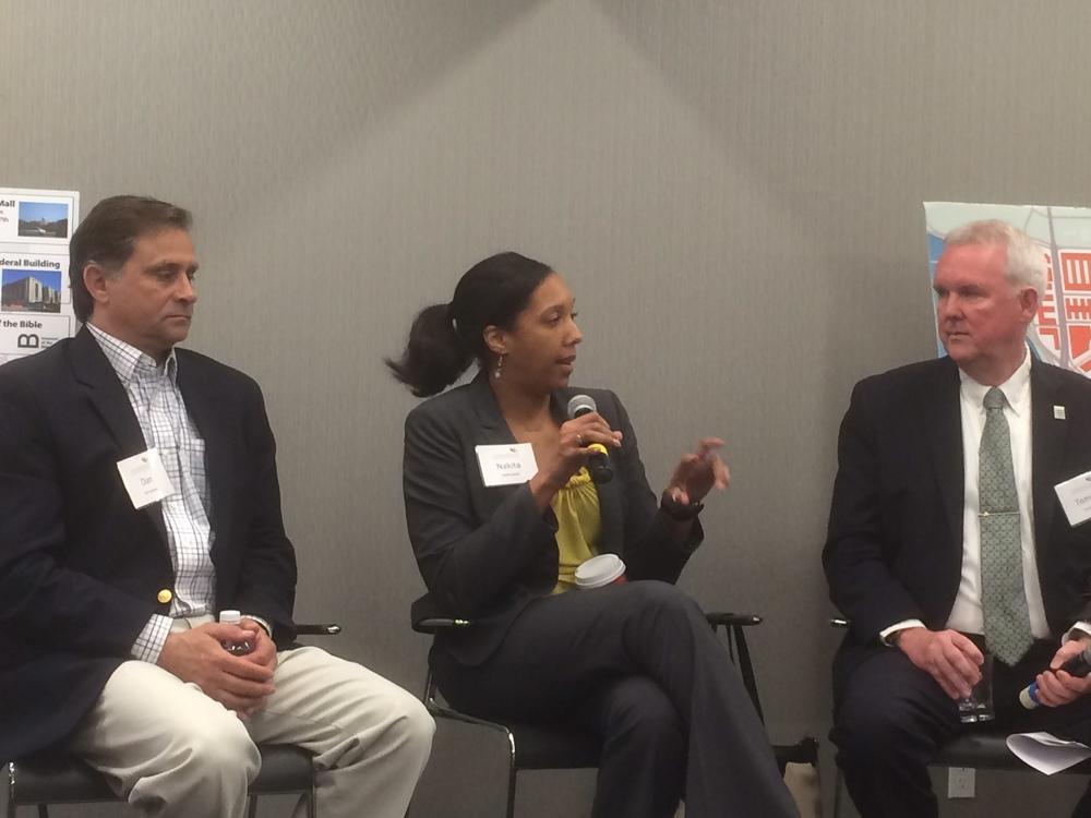Photo of Nakita Reed speaking at the Leadership Greater Washington event