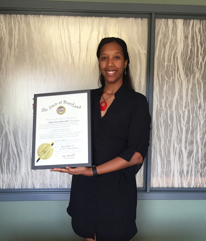 Nakita Reed being appointed to the Maryland Green Building Council