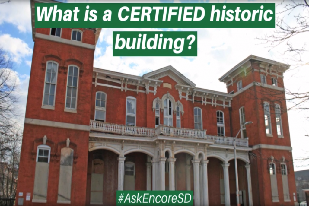 What is a certified historic building?