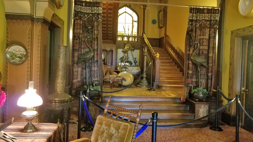 Living Room and Stair Hall at Olana