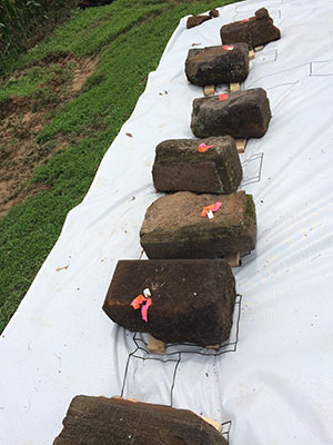 Menokin Bricks replaced with help from HSR