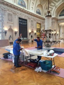 Encore-Sustainable-Design-Bancroft-Hall-Chandelier-Cleaning