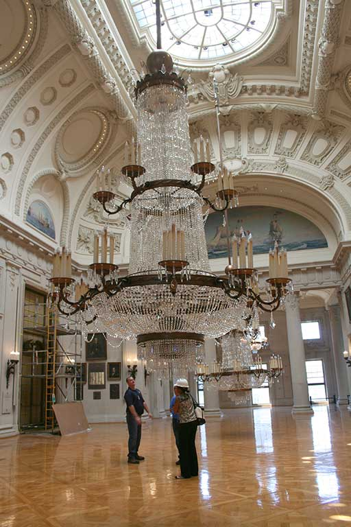 Encore-Sustainable-Design-Bancroft-Hall-Lowering-Chandelier