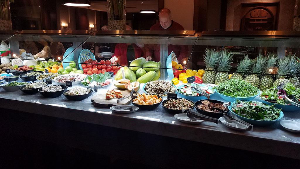 The salad bar at Fogo de Chao