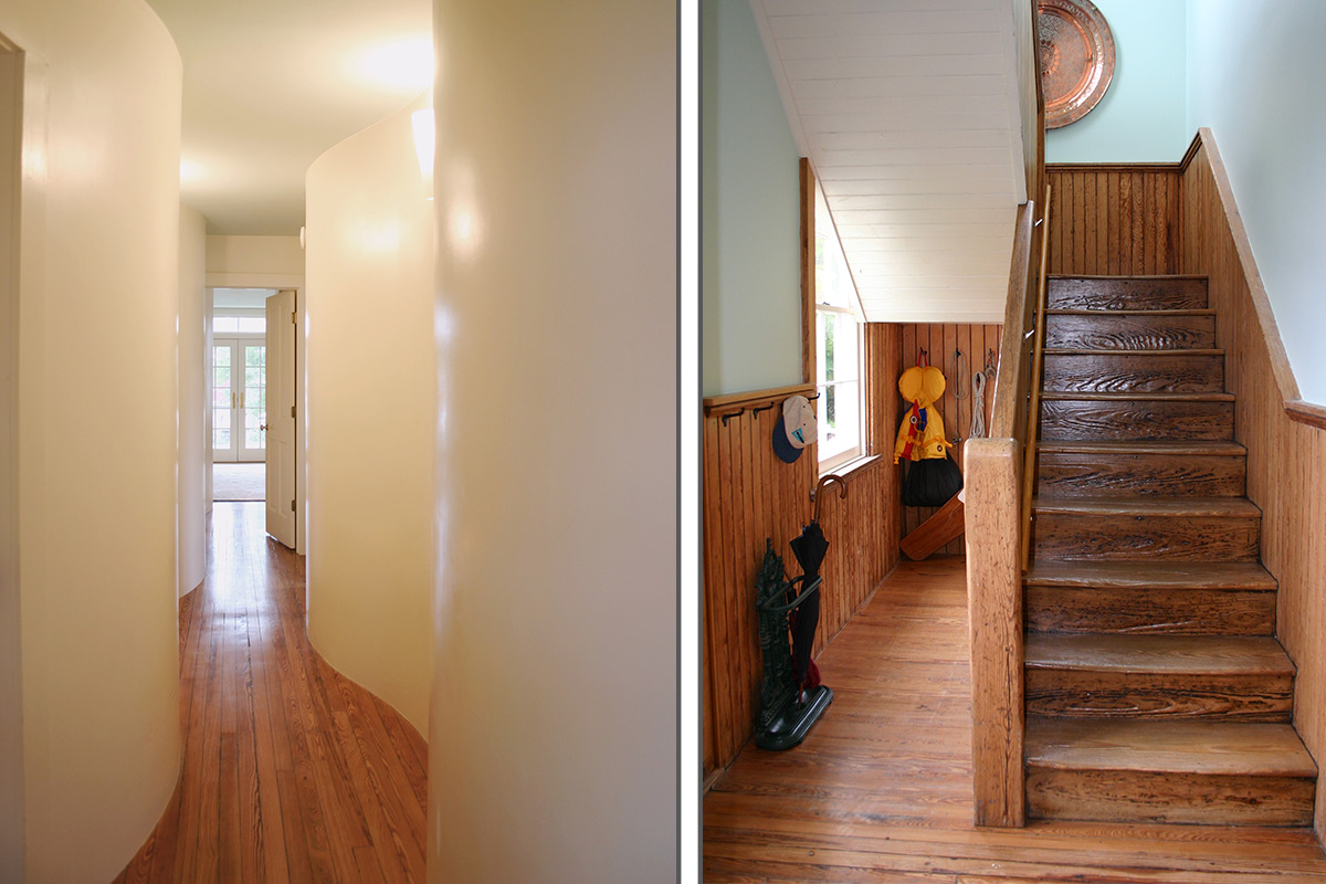 Encore Sustainable Architects Sail Loft Stairs and Hall