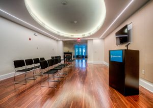 Renovation included presentation space addition
