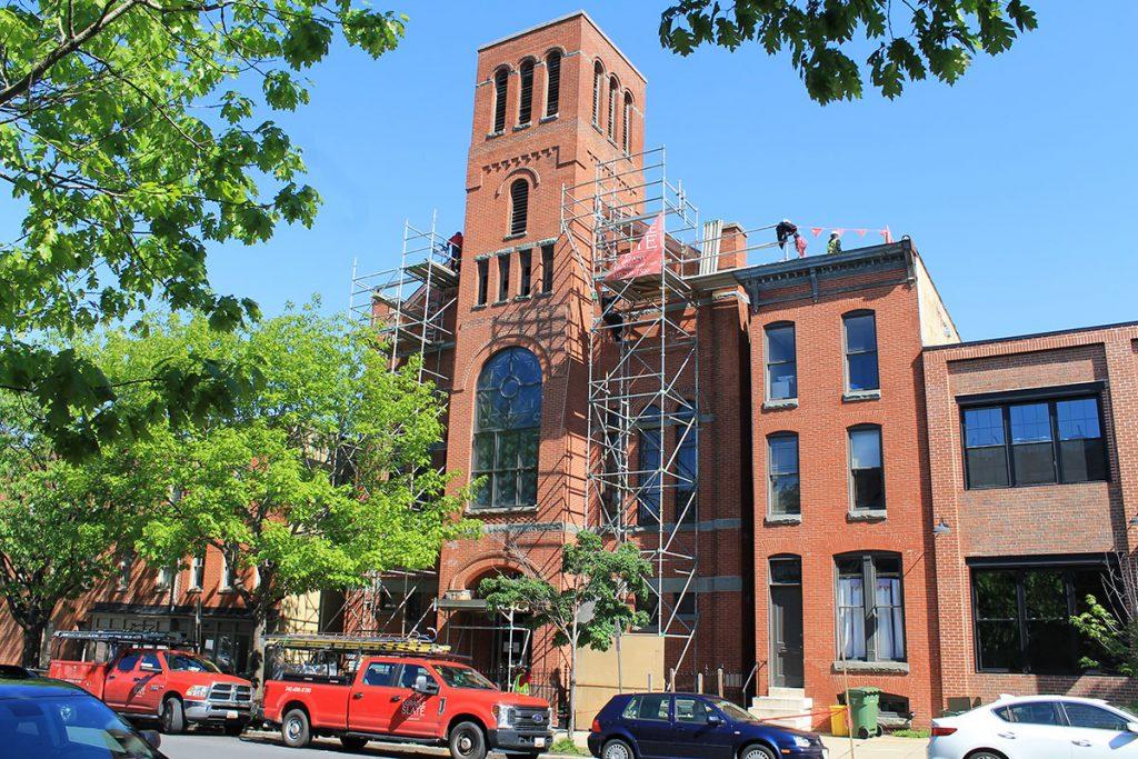 Encore-Sustainable-Architects-Ebenezer-Church-Scaffolding