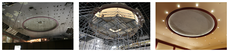 The preservation of the domed ceiling in the Belnord Theatre