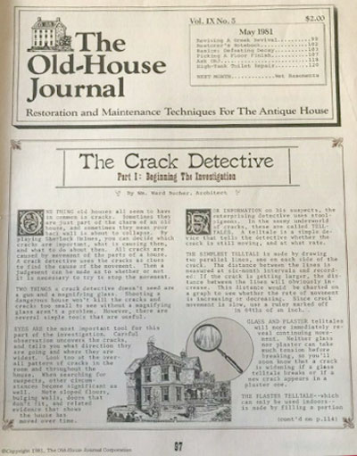 Encore-Sustainable-Architects-Old-House-Journal-Crack-Detective-1981